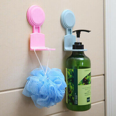 Bathroom Strong Suction Cup Shower Gel Shampoo Rack Wall Mounted Hooks Z