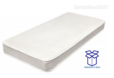 NEW CHEAP WHITE ECONOMY BUDGET MATTRESS 3ft Single 4ft6 Double free delivery