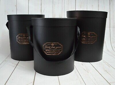 SECONDS Florist Tall Hatboxes x 3 with handles - flowers gifts living vase
