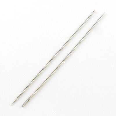 5 Pcs x Stainless Steel Hand Sewing Beading Sharp Needles 150mm long(R002-01)