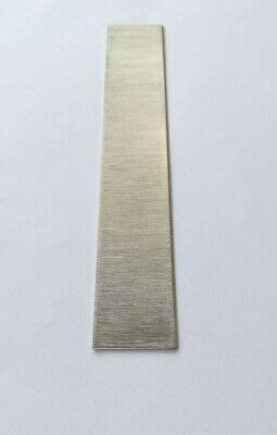 "Pure Nickel Plate Anode ( 99.96% ) DIY Sheet Plating Electrode 0.03"" x 1"" x 6"""