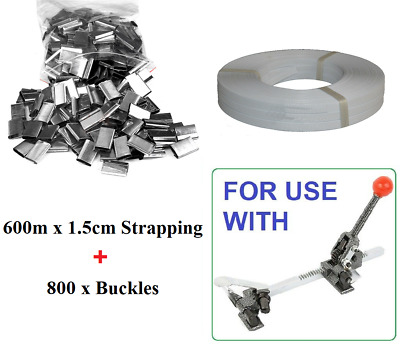 600m Strap + 800 Buckles For Strapping Tensioner Tool Carton Sealing Machine