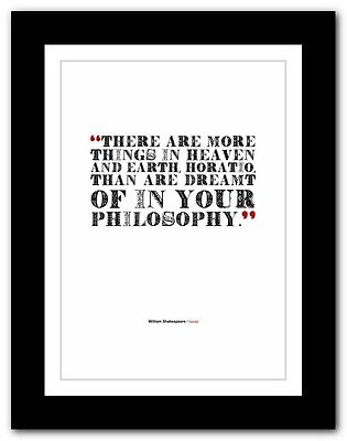 ❤ WILLIAM SHAKESPEARE ❤ Hamlet ❤ philosophy book quote poster print #249