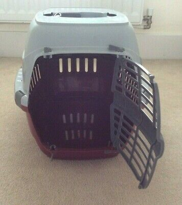 Pets At Home Plastic Red & Grey Pet Carrier. Excellent condition.upto 5kgs Puppy