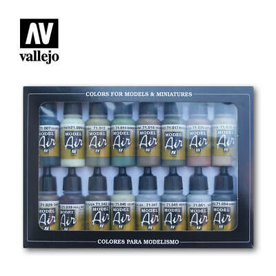 Vallejo Model Air Allied Forces WWII Colors 16 Bottle Paint Set Val71180