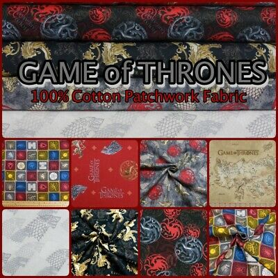 Official GAME OF THRONES Licensed 100% Cotton Patchwork Craft Fabric by Springs
