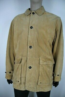 TIMBERLAND PELLE LEATHER Cappotto Giubbotto Jacket Coat Giacca Tg L Uomo Man C