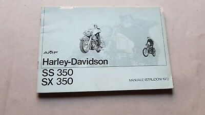 Harley-Davidson SS 350 - SX 350 1973 manuale uso originale owner's manual