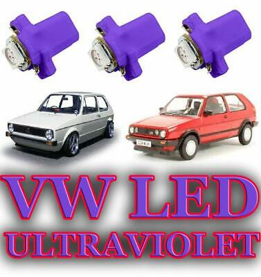 2019 UV ULTRAVIOLET - VW MK2 MK1 GOLF CADDY GTI LED DASH SPEEDO CLUSTER BULBs