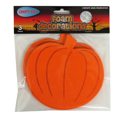 Halloween Eva Foam Decorations - Large Pumpkins, Pack of 3, By Crafty Bitz