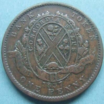 Canada - large One Penny Bank Token 1837....... My220