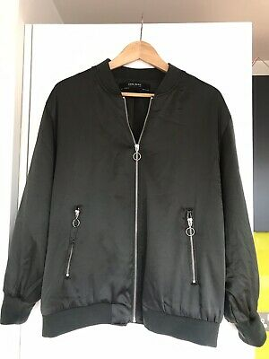 dbf9a4082 ZARA BASIC COLLECTION Black Solid Bomber Jacket M - $20.00 | PicClick