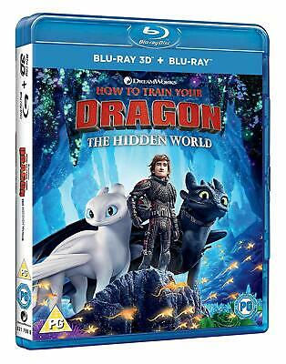How to Train Your Dragon The Hidden World (Blu-ray 2D/3D) BRAND NEW!!