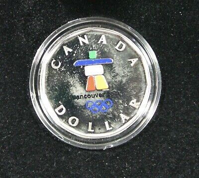 2010 Canada Vancouver Sterling Silver Coloured Lucky Loonie