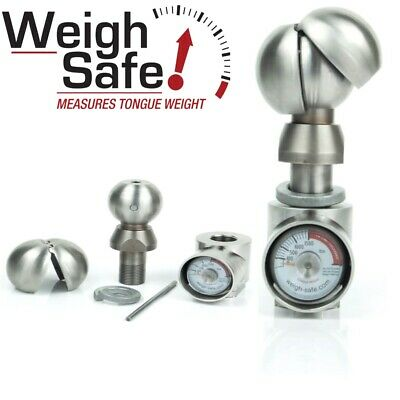"""WSUN-1 Weigh Safe 2"""" & 2-5/16"""" Hitch Tow Ball with Built-In Scale Universal Ball"""