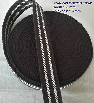 34 mm wide REINFORCED Cotton COLOR Canvas Webbing Thick  Belt Fabric Strap Tape