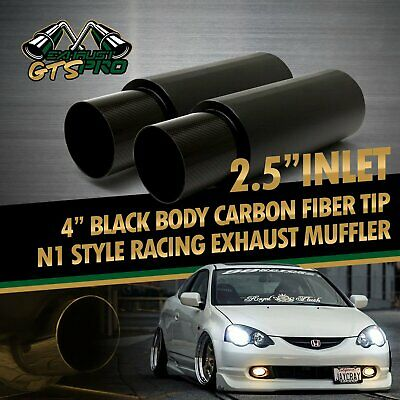 "1X NA N1 STYLE THROATY STRAIGHT BACKEND EXHAUST MUFFLER+4/"" OUTLET FOR JPN CAR"
