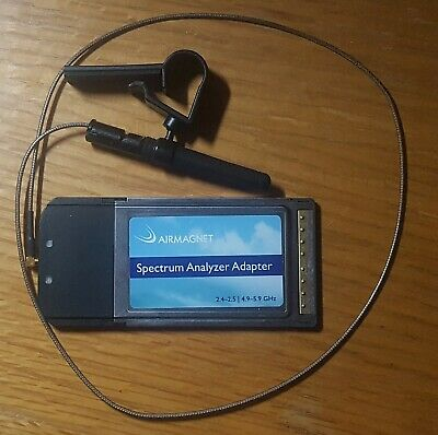 AIRMAGNET/FLUKE Wi-Fi Spectrum Analyzer Adapter PCMCIA Card 21008-001 w/antenna