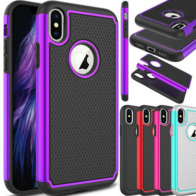 For Apple iPhone XS Max/XR/XS Shockproof Hard Slim Armor Defender Case Cover