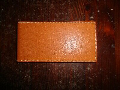 HERMES SMALL LEATHER NOTEPAD note book Purse Accessory France