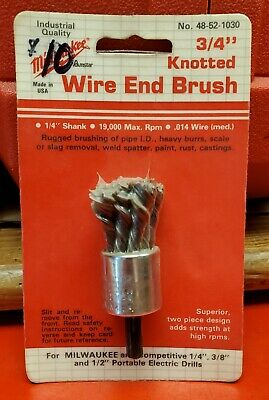 "Milwaukee 3/4"" knotted wire end brush 48-52-1030"