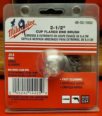 "Milwaukee 2-1/2"" cup flared end brush 48-52-1050"