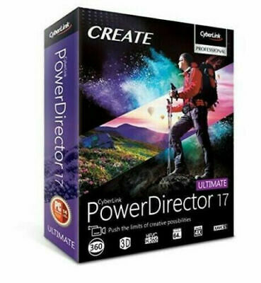 CyberLink PowerDirector Ultimate 17 | Full Version | Genuine License Activation