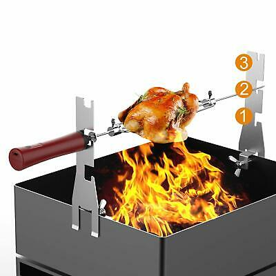 BBQ Automatic Rotisserie Kit, Battery Powered Sticks Smart Rotating Skewers
