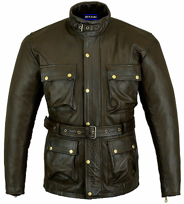 510ee84d232 Motorbike Belstaff Style Classic Trialmaster waxed Finish vintage Leather  Jacket