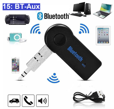 Wireless Bluetooth 3.5mm AUX Audio Stereo Music Car Receiver Adapter with Mic