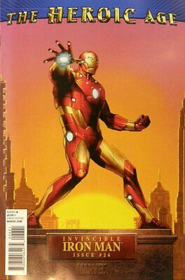 Invincible Iron Man (Vol 1) #26 Presque Neuf (NM) 1 en 15 Variante Marvel Comics