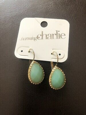 32b709645 CHARMING CHARLIE EMBER PAVE' Earrings Premium Collection Gold ...