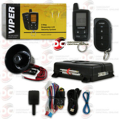 New Viper Car Alarm Security System Keyless Entry 3 Channel 2-Way + 2 Remotes