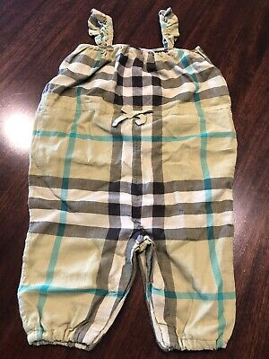 441c40f0ea06 Authentic Burberry Check Print Romper (Baby Girls) Size 9 M Retails $215.00