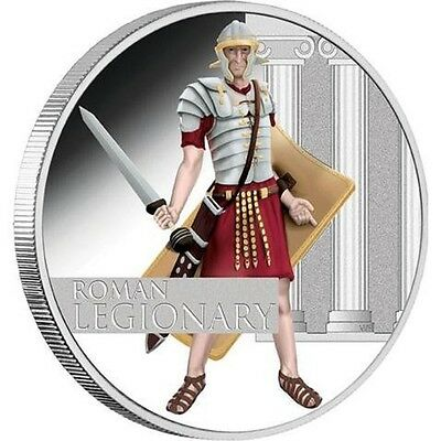 Great Warriors Série Roman Legionary - 1 Dollar Tuvalu - 1 Once Argent 2010 Pp