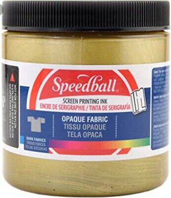 Opaque Fabric Screen Printing Ink 8 Ounces-Gold