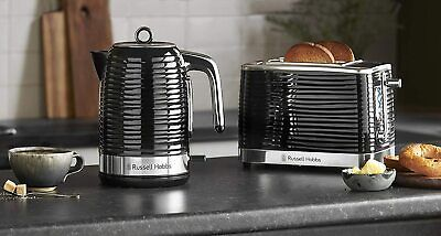 Russell Hobbs Inspire 4 Slice Toaster & Kettle Set in Black**FREE DELIVERY**