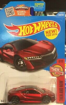 Hot Wheels 2016 HW Then And Now Red '17 Acura NSX