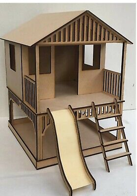 Miniature dolls house accessories Cubby House with Sand Pit Kit 1:12th  scale