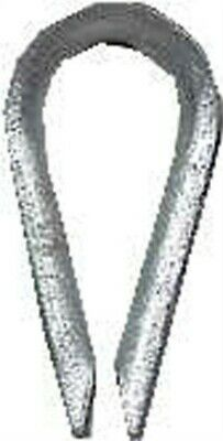 Campbell Chain  Galvanized  Zinc  Wire Rope Thimble  3/8 in. L