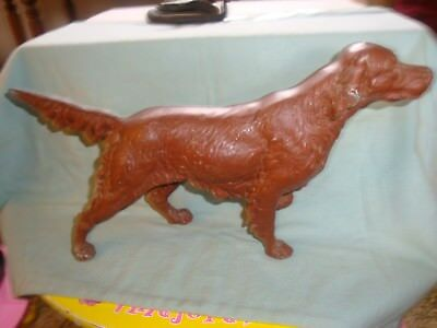 Vintage Cast Aluminum Pointing Irish Setter