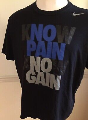 95578b45 Know No Pain No Know Gain Men's Nike Short Sleeve S/S T Tee Shirt 2XL