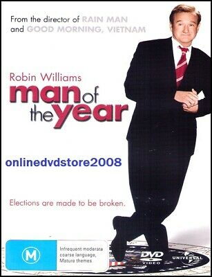 MAN of the YEAR (Robin WILLIAMS Christopher WALKEN) Comedy DVD NEW SEALED Reg 4
