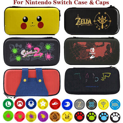 Case For Nintendo Switch EVA Hard Protective Carrying Bag Thumb Protector Caps