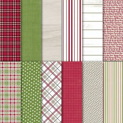 """Stampin' Up! Festive Farmhouse Designer Series Paper (DSP) - 12 Sheets 6"""" x 6"""""""