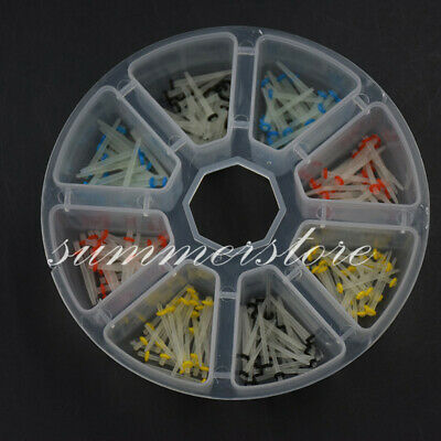 200 Pcs Dental Refill Glass Fiber Post Root Canal Pins Screw+Straight 1.0-1.8mm