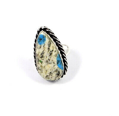 K2 .925 Silver Plated Handmade Ring Size-9.25 Jewelry JC8855