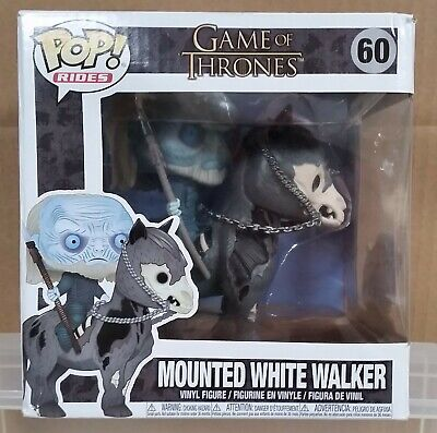 Funko Pop Rides 60 Game of Thrones Mounted White Walker vinyl figure damaged box