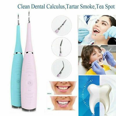 Electric Sonic Dental Scaler Tartar Calculus Plaque Remover Tooth Stains To K4K1