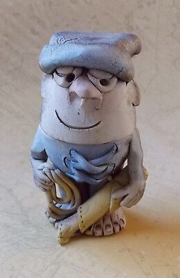 *Vintage 1990s Hand Crafted Australian Pottery Character Egg Cup